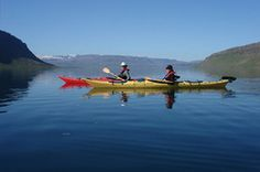 You can sea kayak various places in Iceland... We can help beginners and advanced paddlers to find their missions. #arcticadventures #iceland