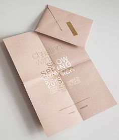 pink pastel modern wedding invitation design with gold wording - fashion week invitation inspiration
