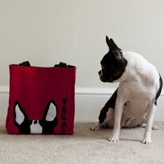 Zoey needs one!!!    Personalized Boston Terrier Ears Tote Bag in by HappyDogClothes, $39.00