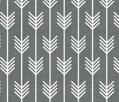 arrows_gray fabric
