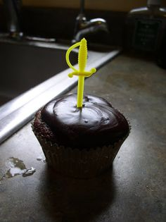 """Sword in the Stone"" cupcakes."