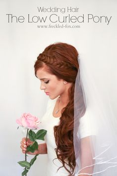 WEDDING HAIR WEEK: The Low Curled Pony | by emily meyers