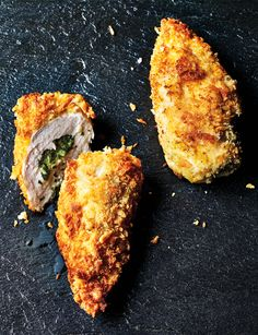 This tarragon and goats' cheese chicken kiev is your new go-to chicken dinner. With garlic and zesty lemon this dish is refreshing as well as creamy.