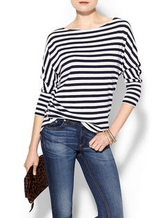 I usually think striped shirts are a tad boring, but this one has some visual interest to it