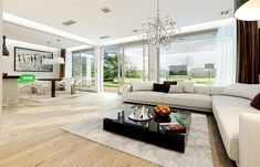Projekt domu Otwarty 4 171,54 m2 - koszt budowy 247 tys. zł - EXTRADOM
