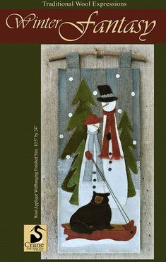 Winter Fantasy-Love the bear hitching a ride- a large piece that is very showy
