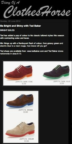 Ted Baker Footwear on Diary of a Clothes Horse 22.05.14