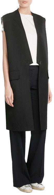 Golden Goose Deluxe Brand Fleece Wool Blend Vest