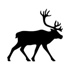 Caribou Silhouette Silhouette Clip Art, Animal Silhouette, Animal Outline, Dremel Wood Carving, Moose Decor, Wolf Artwork, Wood Carving Patterns, Create Animation, Stencil Art