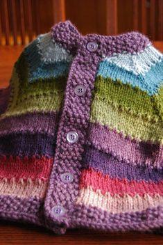 ideas knitting baby patterns sweater tricot for 2019 Kids Knitting Patterns, Baby Sweater Patterns, Baby Cardigan Knitting Pattern, Knit Baby Sweaters, Knitted Baby Cardigan, Knitting For Kids, Baby Patterns, Crochet Baby Jacket, Knit Crochet