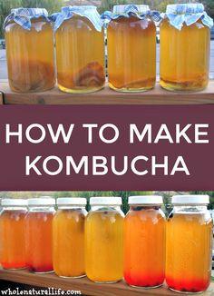 Kombucha is a fermented beverage made from sweetened tea. Learn how to make kombucha at home with these easy instructions. Fresco, Kombucha How To Make, Making Kombucha, Probiotic Drinks, Kombucha Flavors, Real Food Recipes, Healthy Recipes, Kombucha Tea, Kombucha Benefits