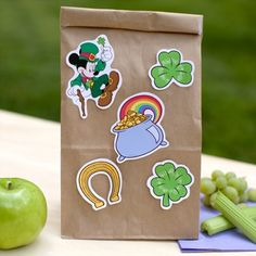 Mickey Mouse St. Patrick's Day Stickers