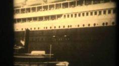 TITANIC 1912 ORIGINAL FILM FOOTAGE VERY VERY RARE FILM, via YouTube.