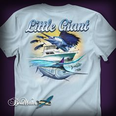Little Giant fishing t-shirt design created by BoldWater.