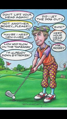 Expert Golf Tips For Beginners Of The Game. Golf is enjoyed by many worldwide, and it is not a sport that is limited to one particular age group. Not many things can beat being out on a golf course o Golf Etiquette, Golf Exercises, E Mc2, Perfect Golf, Golf Quotes, Golf Sayings, Humor Quotes, Golf Lessons, Golf Humor