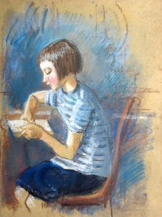 Zinaida Serebriakova (1884-1967) Reading girl