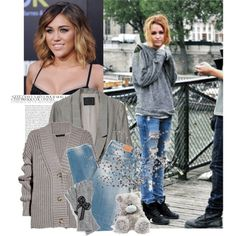 Miley Cyrus - Street Style*, created by larissassecret on Polyvore