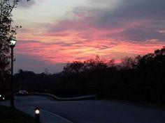 Weymouth, MA : Sunset in Weymouth Massachusetts