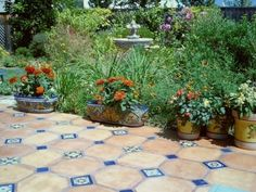 Mexican Tile Courtyard