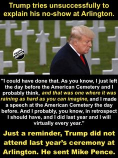 01 06 2019 10 Draft Dodging Donnie disrespecting those who Serve and those who Died. Outrage at this Unpatriotic POS? Our President, Always Learning, I Cant Even, Donald Trump, It Hurts, Facts, Let It Be, Words, Trump Quotes