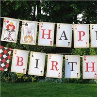 Party Ideas UK Mad Hatter Card Bunting Small  PRINTABLE