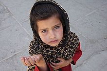 Afghan girl begging :(