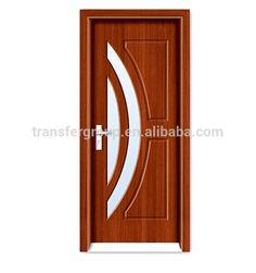 Modern house pvc diseño de la puerta de cristal de madera PV-6267-en Puertas de Puertas y Ventanas en m.spanish.alibaba.com.