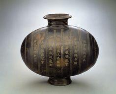 漢 陶繭形壺