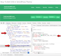 How to Edit CSS in WordPress Theme - Main-navigation