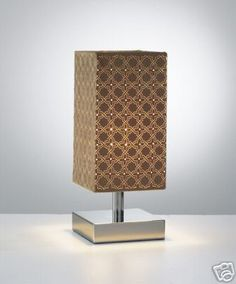 Antique brass touch lamp ruby laser cut lamp shade home lights polished chrome touch lamp mocha laser cut lamp shade aloadofball Image collections
