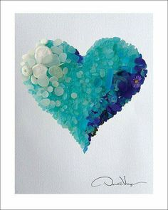 Such a lovely Seaglass Heart embellished with little bits and pieces! this by Donald Verger http://donaldverger.photoshelter.com/