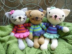 Maisie and Maurice Mouse Amigurumi Crochet by mojimojidesign