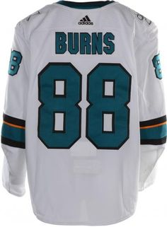 Brent Burns San Jose Sharks Game-Used  88 White Jersey with All-Star c8f48933b