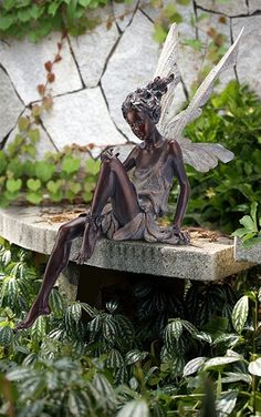 Enchanting Fairy Garden Statue In Bronze Color | Robyn Nola Gifts