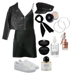 """""""it girl"""" by blushedpearl ❤ liked on Polyvore featuring donni charm, Melissa Odabash, Fleur du Mal, H&M, Herbivore, Giorgio Armani, T By Alexander Wang and Byredo"""