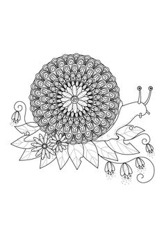 Free Coloring Page Coloring Adult Zentangle Squirrel By