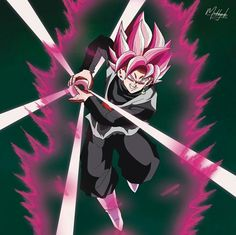 Black Goku Super Sayin Rose