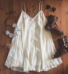 White Patchwork Lace Condole Belt Backless Mini Dress
