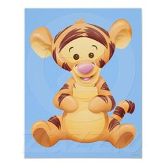 Shop Baby Tigger Poster created by winniethepooh. Tigger Disney, Tigger Winnie The Pooh, Eeyore, Disney Tiger, Cartoon Tiger, Cartoon Kids, Baby Disney Characters, Cartoon Characters, Pooh Bebe