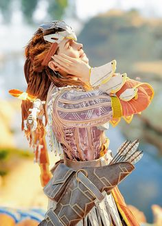 Horizon Zero Dawn Cosplay, Videogames, Horizon Zero Dawn Aloy, V Games, Viking Warrior, Female Character Design, Video Game Art, Character Outfits, Pictures To Draw
