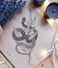 Small Tattoo Designs, Flower Tattoo Designs, Great Tattoos, Small Tattoos, Kundalini Tattoo, Tattoo Snake, Henne Tattoo, Kawaii Tattoo, Doodle Tattoo