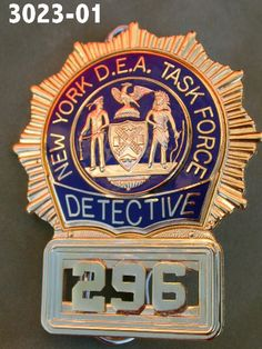 NYPD Detective's shield, the most recognizable law enforcement credential that there is!
