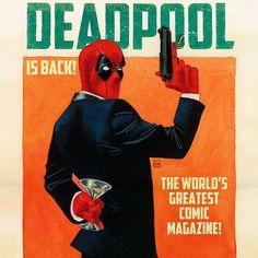 Shaken Not Stirred. Deadpool # 2 Variant By Kevin Wada #deadpool #marvel #comics #variant #kevinwada #FLYGUY #twitter #googleplus