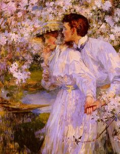 In the Springtime (1896) by James Jebusa Shannon.
