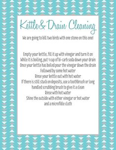 kettle and drain spring clean c forever organised spring clean challenge