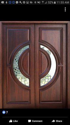 exterior doors modern double front entry doors with x 950 260 kb jpeg x Wooden Double Doors, Double Front Doors, Wooden Front Doors, Front Entry, Wooden Main Door Design, Double Door Design, Front Door Design, Exterior Doors For Sale, Double Doors Exterior