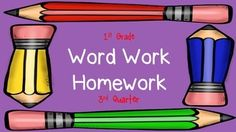 This pack has 8 weeks of word work homework.  Each week is comprised of two different word families or rimes.  I send it home as part of my weekly homework packet, along with my sight word homework, reading logs, and math homeworkbut you can also use this packet as daily practice in the classroom as well.If you have any ELLs or any children that might need help at home from their parents/guardians who may not know English very well, I also have the same exact packet with directions in both…
