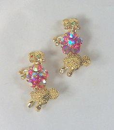 2 Vintage Scatter Pins Poodles Pink Aurora by ReVampingVintage, $12.00