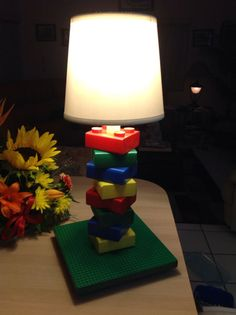 Child's Lamp Lego Themed