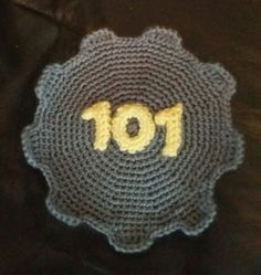 Crochet Xbox Controller : falloutuniverse: Vault 101 Door? thing I crocheted. Centering the ...